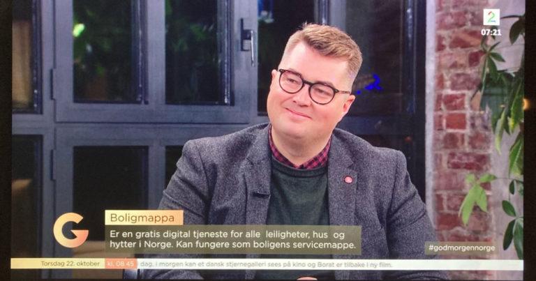 Boligmappa på TV2 God Morgen Norge.